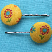 yellow-flower-hair-clips