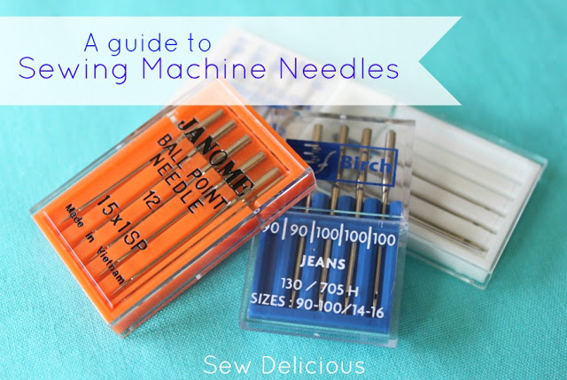 sewing machine needle size guide