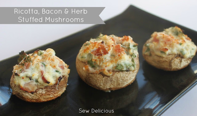 ricotta-bacon-stuffed-mushrooms-