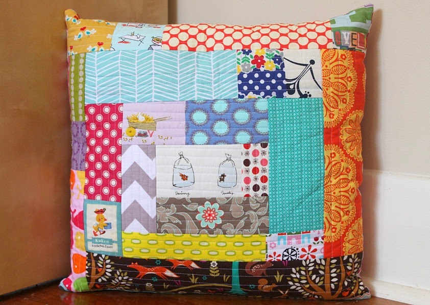 quilt-as-you-go-cushion