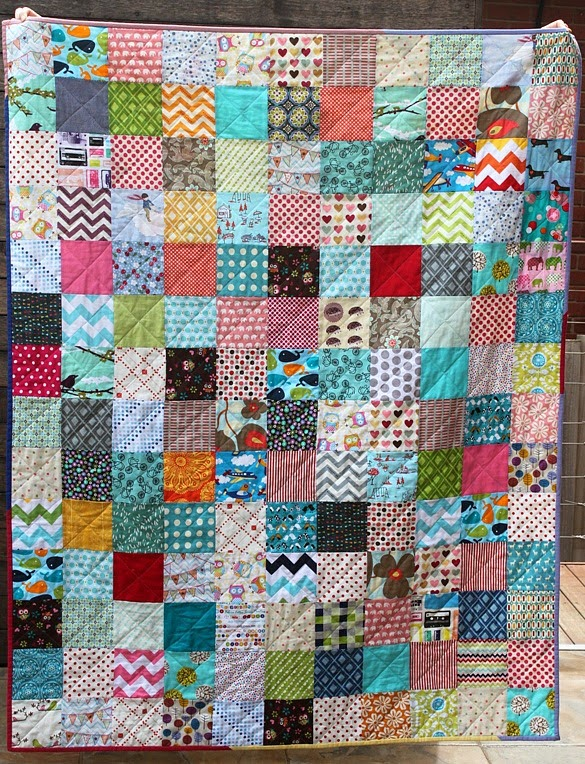 Quilting Pattern Squares : Scrappy Charm Square Quilt - Sew Delicious