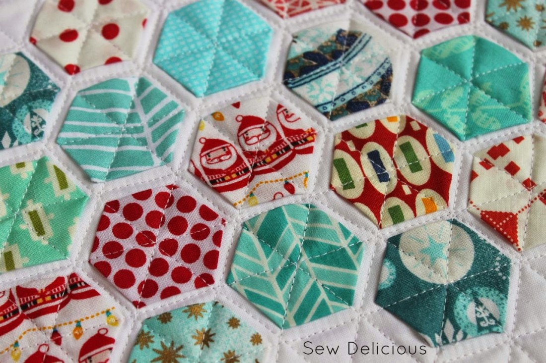 Quilted Hexie Mug Rug Sew Delicious