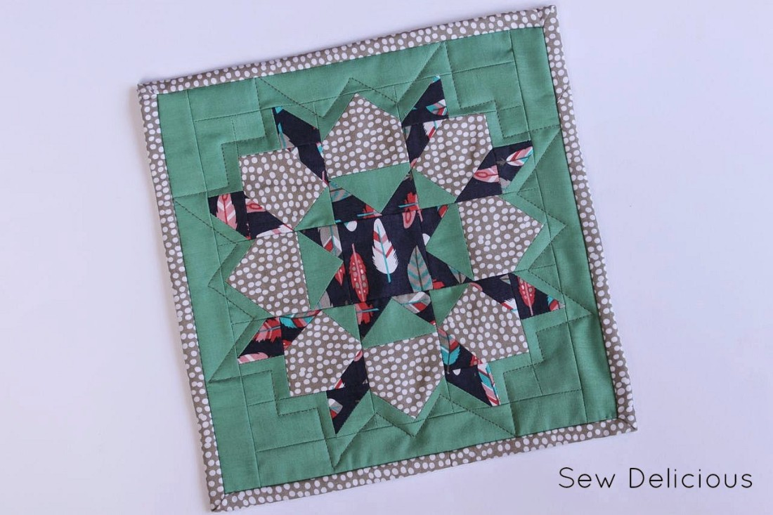 Mini Swoon Block Mug Rug - Sew Delicious : quilts and a mug - Adamdwight.com