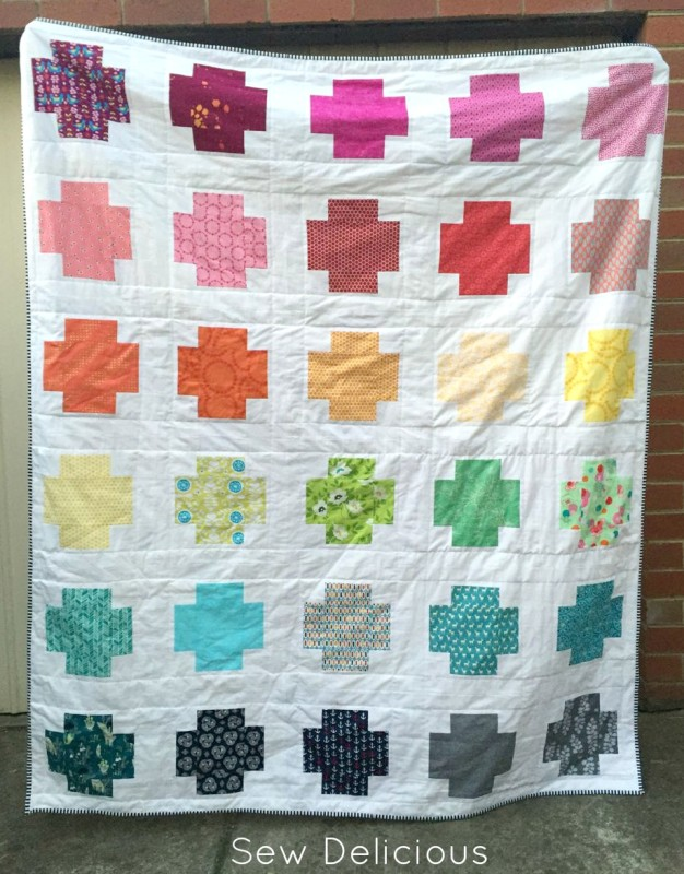Rainbow Cross Quilt