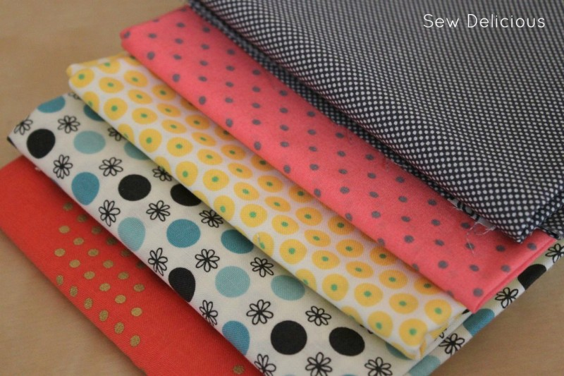 fabric choices polka dots