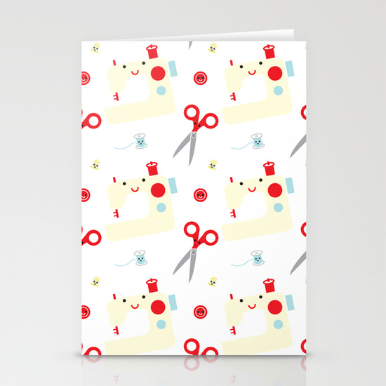 Sewing stationery cards