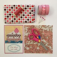 pink craft supplies