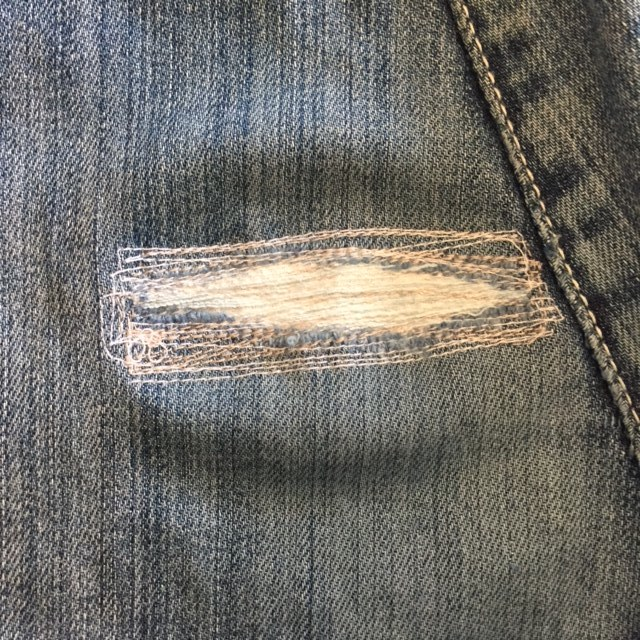 how to mend jeans 4