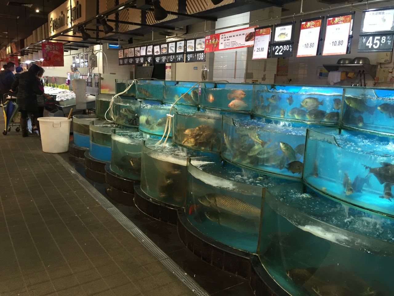 china fish in supermarket