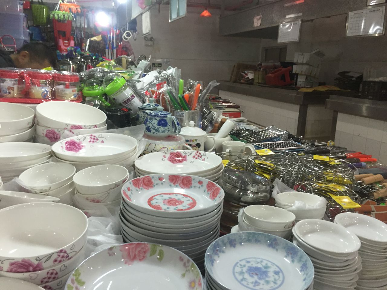 china wet market kitchenware