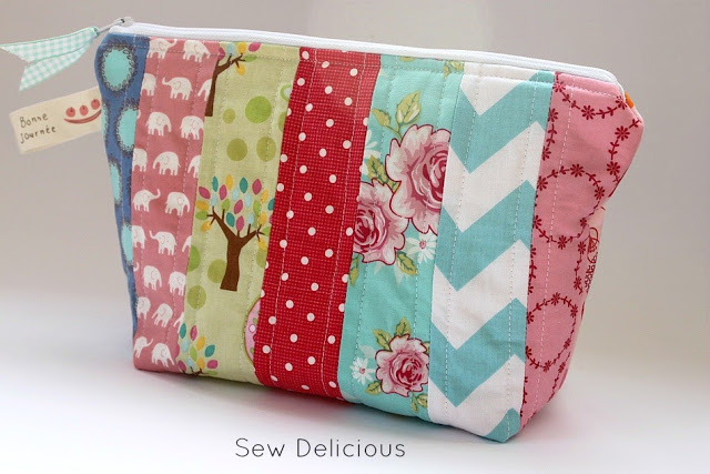Scrappy Strip Zip Pouch