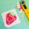 Paper pieced strawberry