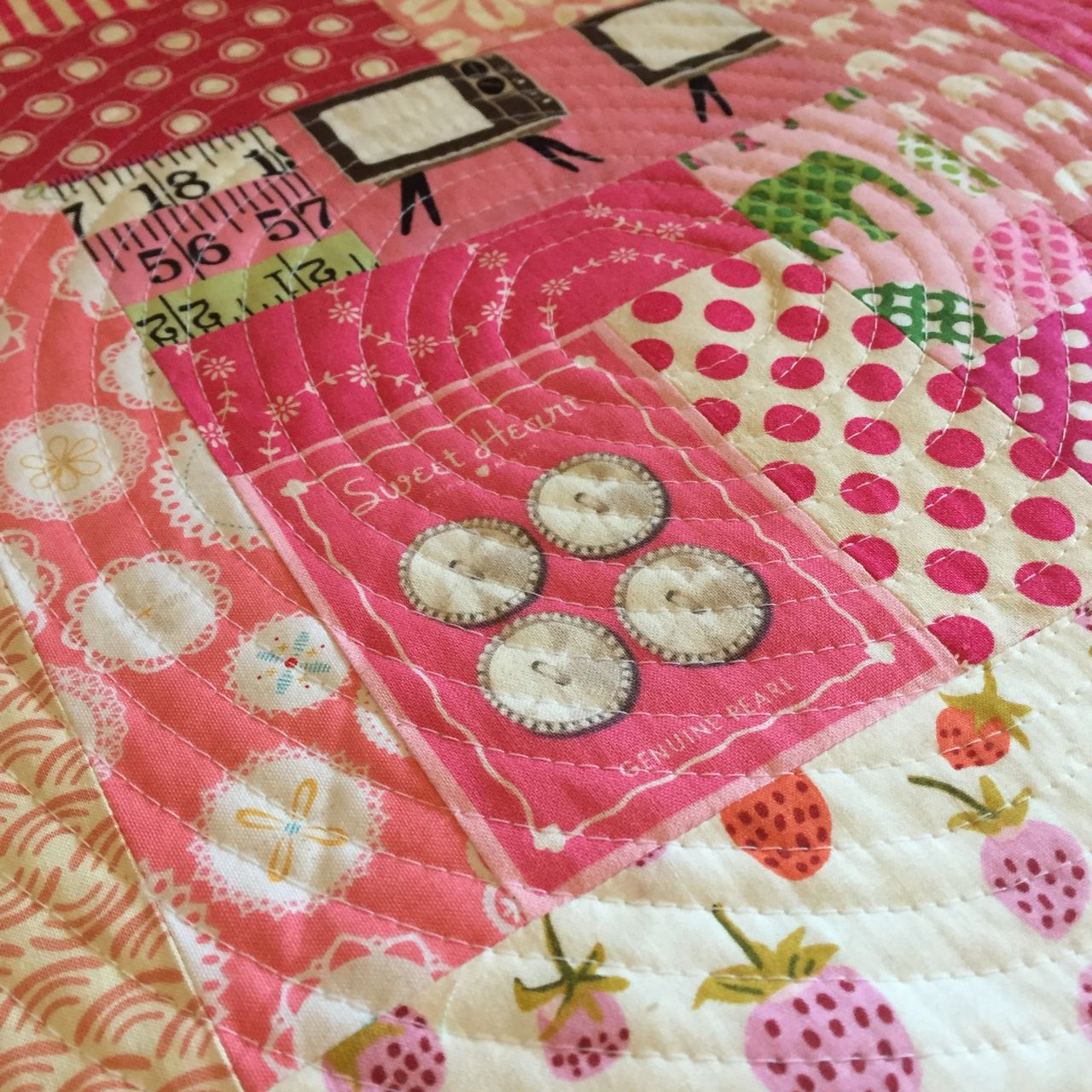 quilted pink cushion 1