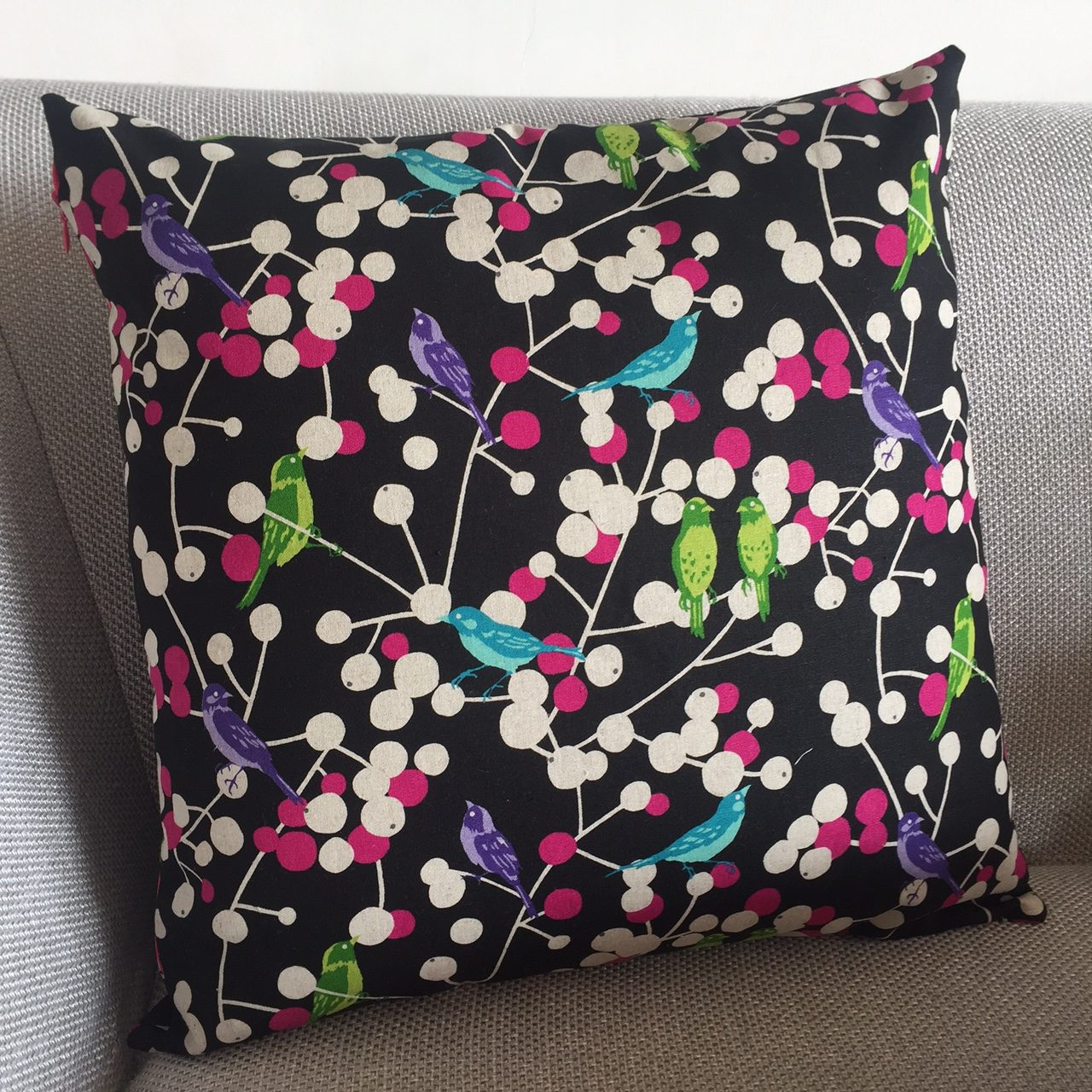 Echino fabric cushion