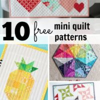 10 free mini quilt patterns