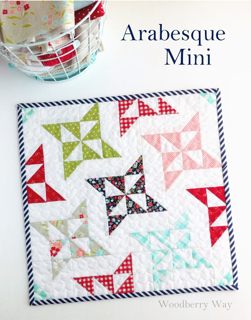 mini quilt arabesque