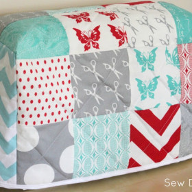 Quilted Sewing Machine Cover – Tutorial
