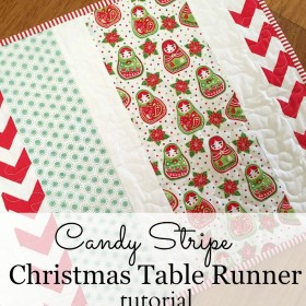 Candy Stripe Christmas Table Runner Tutorial