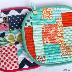 Scrappy Pot Holders – Tutorial